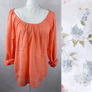 Joie Coral Lightweight Cotton Top Small